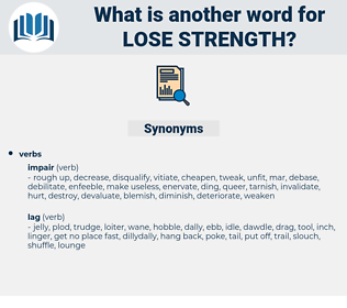 lose strength, synonym lose strength, another word for lose strength, words like lose strength, thesaurus lose strength