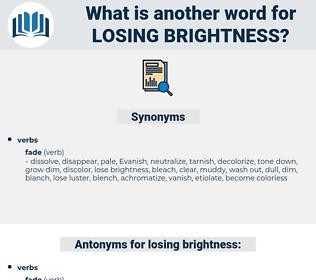 losing brightness, synonym losing brightness, another word for losing brightness, words like losing brightness, thesaurus losing brightness