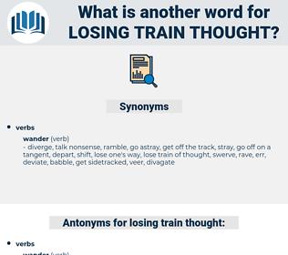 losing train thought, synonym losing train thought, another word for losing train thought, words like losing train thought, thesaurus losing train thought