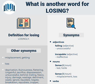 losing, synonym losing, another word for losing, words like losing, thesaurus losing