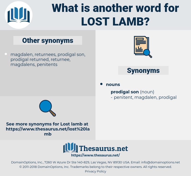 lost lamb, synonym lost lamb, another word for lost lamb, words like lost lamb, thesaurus lost lamb