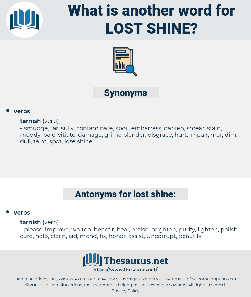 lost shine, synonym lost shine, another word for lost shine, words like lost shine, thesaurus lost shine