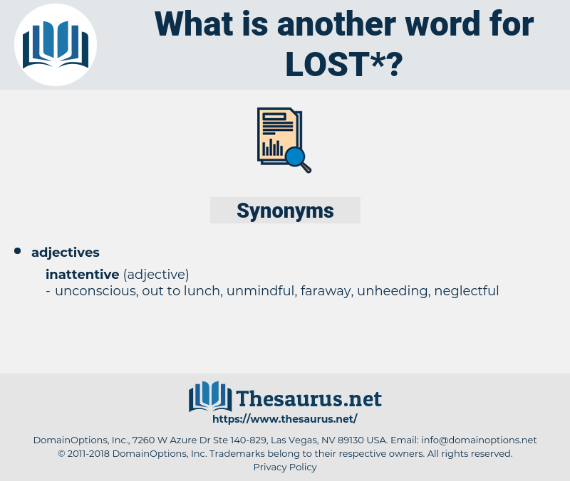 lost, synonym lost, another word for lost, words like lost, thesaurus lost