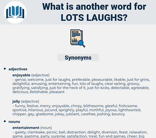 lots laughs, synonym lots laughs, another word for lots laughs, words like lots laughs, thesaurus lots laughs