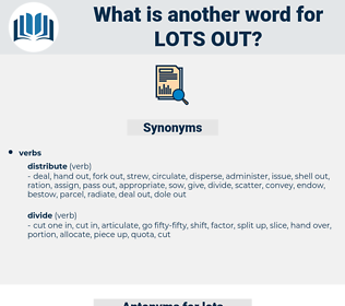 lots out, synonym lots out, another word for lots out, words like lots out, thesaurus lots out