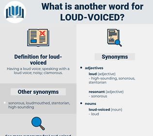 loud-voiced, synonym loud-voiced, another word for loud-voiced, words like loud-voiced, thesaurus loud-voiced