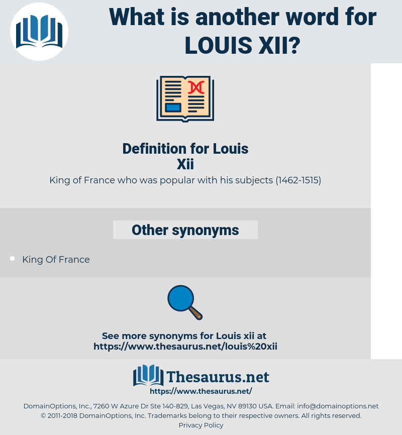 Louis Xii, synonym Louis Xii, another word for Louis Xii, words like Louis Xii, thesaurus Louis Xii