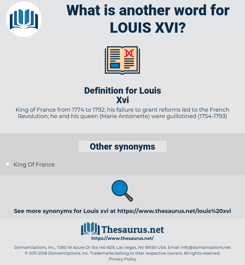 Louis Xvi, synonym Louis Xvi, another word for Louis Xvi, words like Louis Xvi, thesaurus Louis Xvi