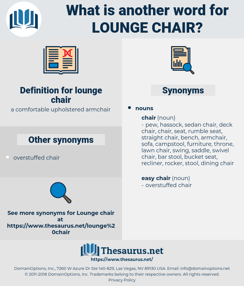 lounge chair, synonym lounge chair, another word for lounge chair, words like lounge chair, thesaurus lounge chair