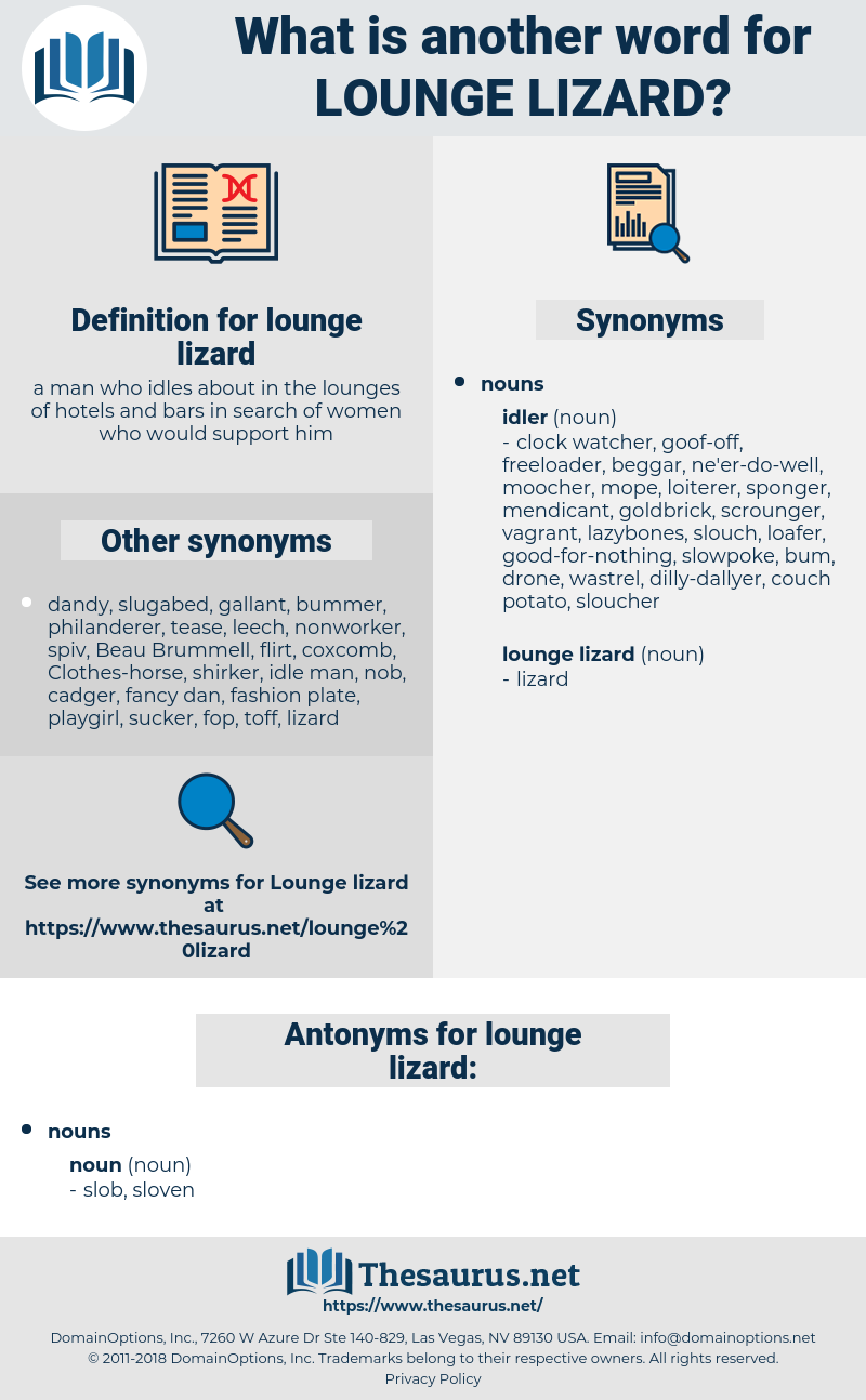 lounge lizard, synonym lounge lizard, another word for lounge lizard, words like lounge lizard, thesaurus lounge lizard