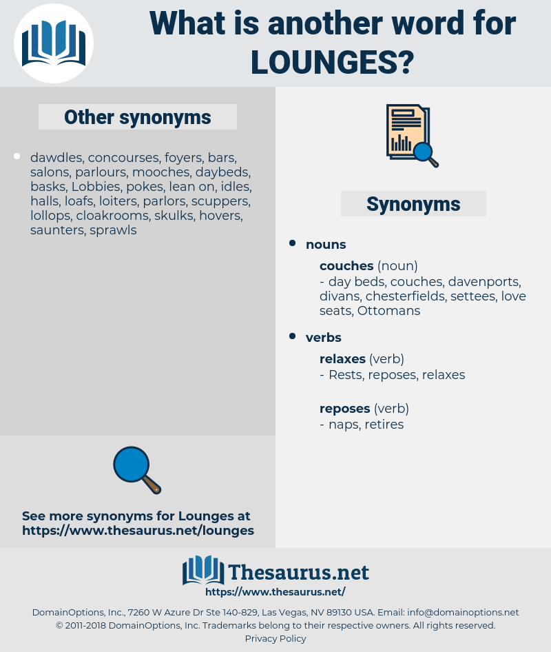 lounges, synonym lounges, another word for lounges, words like lounges, thesaurus lounges