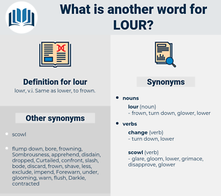 lour, synonym lour, another word for lour, words like lour, thesaurus lour