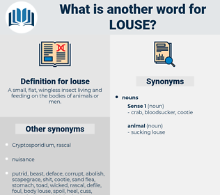 louse, synonym louse, another word for louse, words like louse, thesaurus louse