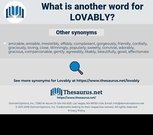 lovably, synonym lovably, another word for lovably, words like lovably, thesaurus lovably
