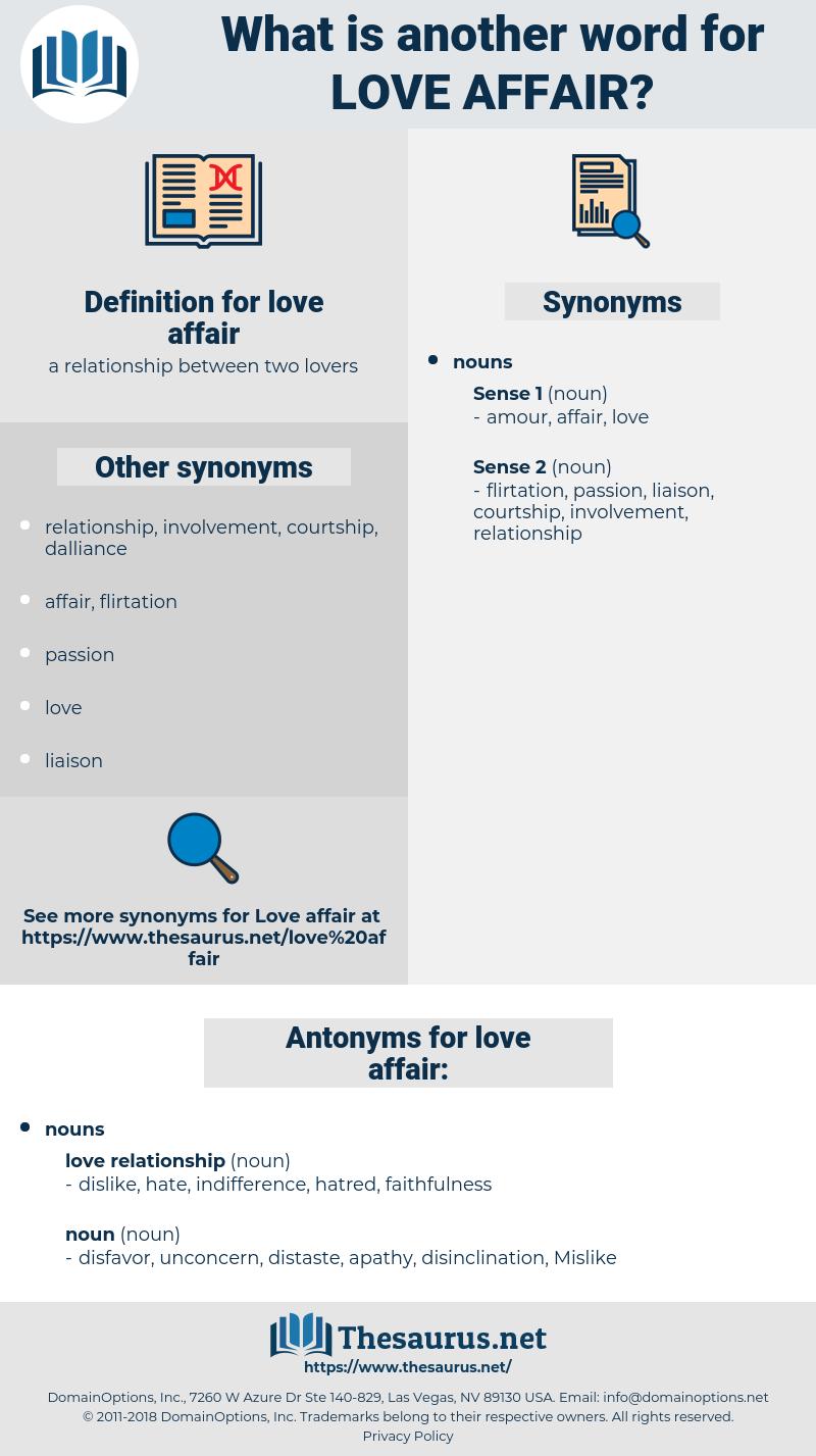 love affair, synonym love affair, another word for love affair, words like love affair, thesaurus love affair