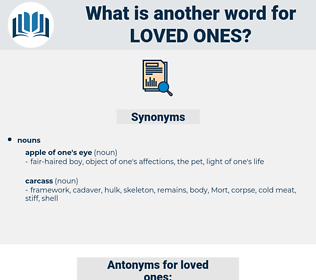 loved ones, synonym loved ones, another word for loved ones, words like loved ones, thesaurus loved ones