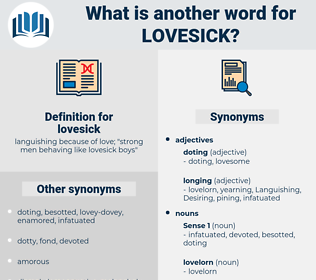 lovesick, synonym lovesick, another word for lovesick, words like lovesick, thesaurus lovesick