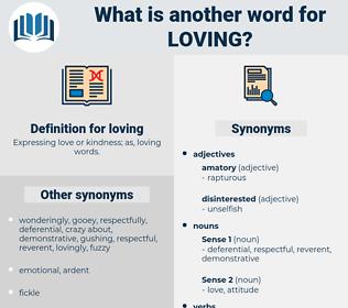 loving, synonym loving, another word for loving, words like loving, thesaurus loving