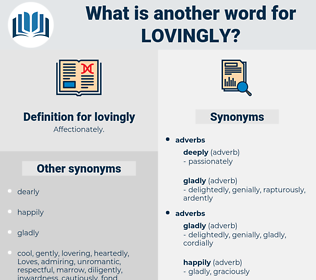 lovingly, synonym lovingly, another word for lovingly, words like lovingly, thesaurus lovingly