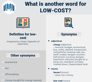 low-cost, synonym low-cost, another word for low-cost, words like low-cost, thesaurus low-cost