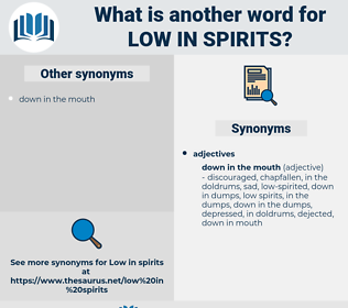 low in spirits, synonym low in spirits, another word for low in spirits, words like low in spirits, thesaurus low in spirits