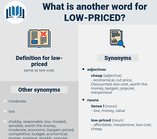 low-priced, synonym low-priced, another word for low-priced, words like low-priced, thesaurus low-priced