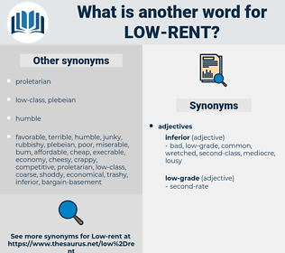 low-rent, synonym low-rent, another word for low-rent, words like low-rent, thesaurus low-rent