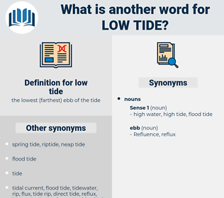 low tide, synonym low tide, another word for low tide, words like low tide, thesaurus low tide