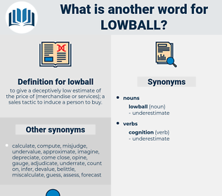 lowball, synonym lowball, another word for lowball, words like lowball, thesaurus lowball