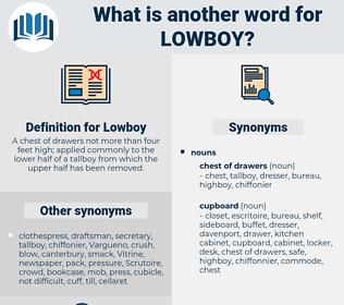 Lowboy, synonym Lowboy, another word for Lowboy, words like Lowboy, thesaurus Lowboy