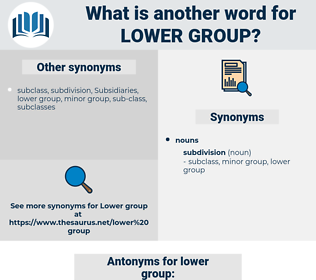 lower group, synonym lower group, another word for lower group, words like lower group, thesaurus lower group