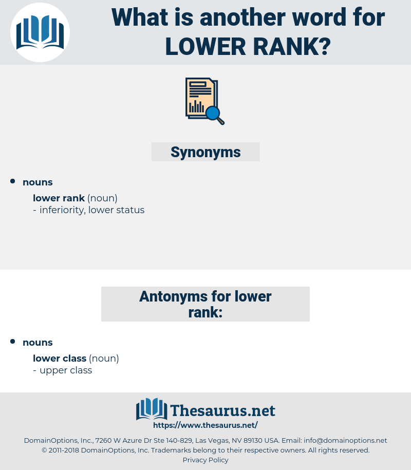 lower rank, synonym lower rank, another word for lower rank, words like lower rank, thesaurus lower rank