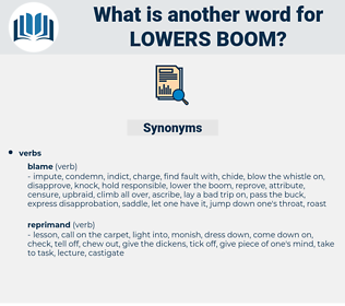 lowers boom, synonym lowers boom, another word for lowers boom, words like lowers boom, thesaurus lowers boom