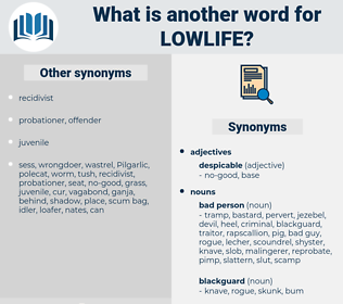 lowlife, synonym lowlife, another word for lowlife, words like lowlife, thesaurus lowlife