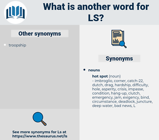 LS, synonym LS, another word for LS, words like LS, thesaurus LS