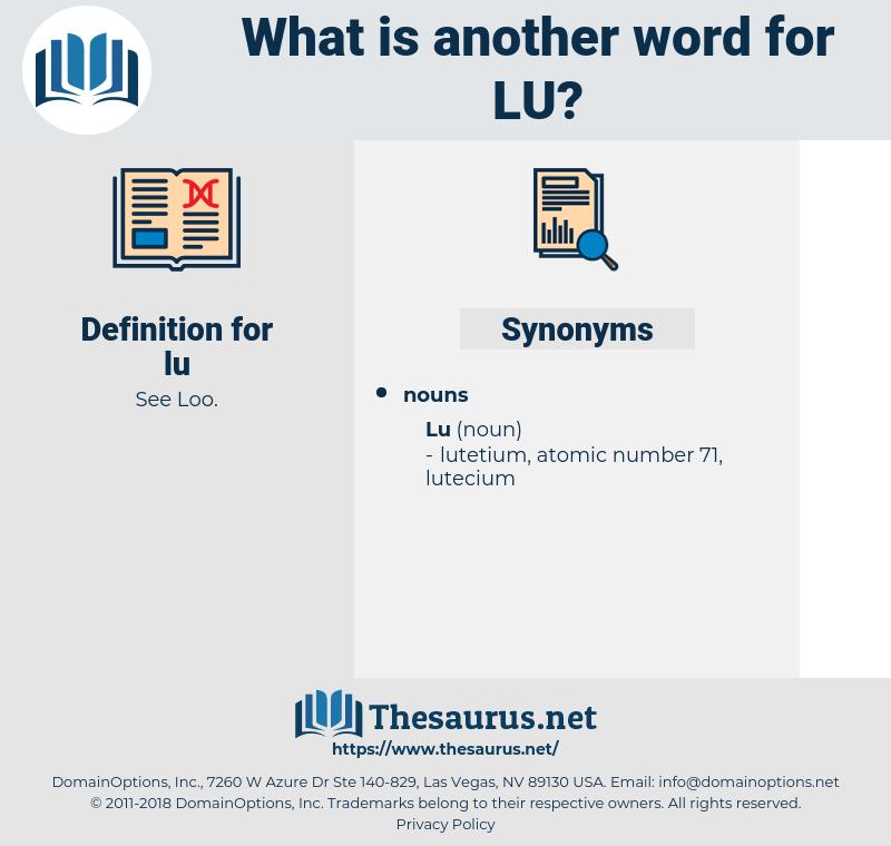 lu, synonym lu, another word for lu, words like lu, thesaurus lu