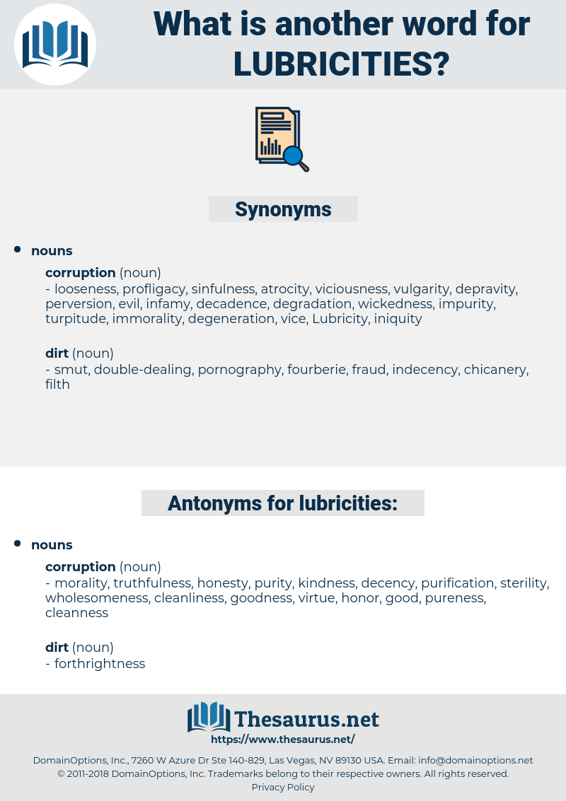 lubricities, synonym lubricities, another word for lubricities, words like lubricities, thesaurus lubricities