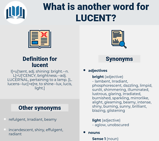 lucent, synonym lucent, another word for lucent, words like lucent, thesaurus lucent