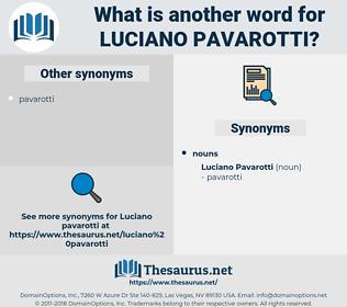 Luciano Pavarotti, synonym Luciano Pavarotti, another word for Luciano Pavarotti, words like Luciano Pavarotti, thesaurus Luciano Pavarotti