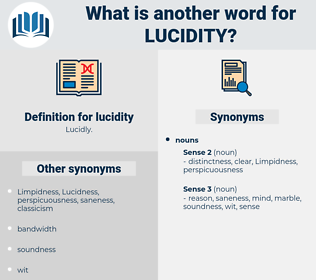 lucidity, synonym lucidity, another word for lucidity, words like lucidity, thesaurus lucidity