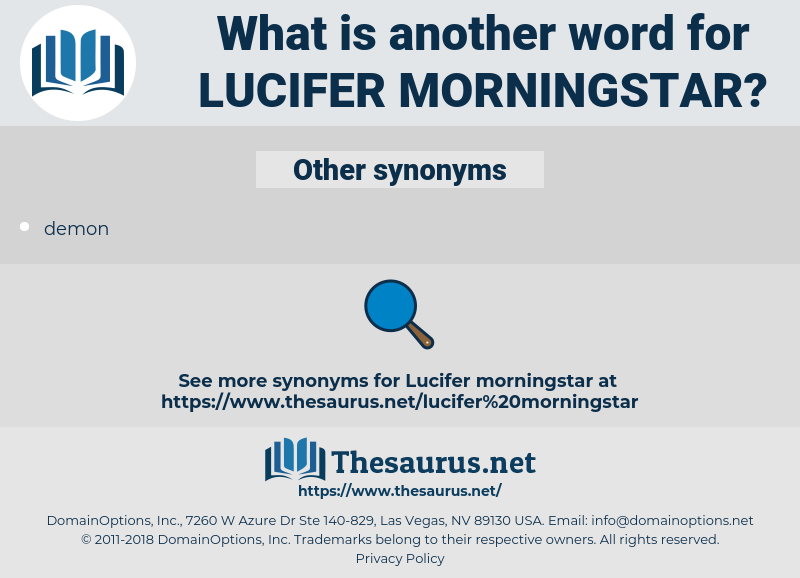 lucifer morningstar, synonym lucifer morningstar, another word for lucifer morningstar, words like lucifer morningstar, thesaurus lucifer morningstar