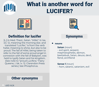 lucifer, synonym lucifer, another word for lucifer, words like lucifer, thesaurus lucifer