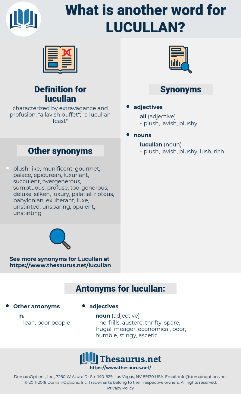 lucullan, synonym lucullan, another word for lucullan, words like lucullan, thesaurus lucullan