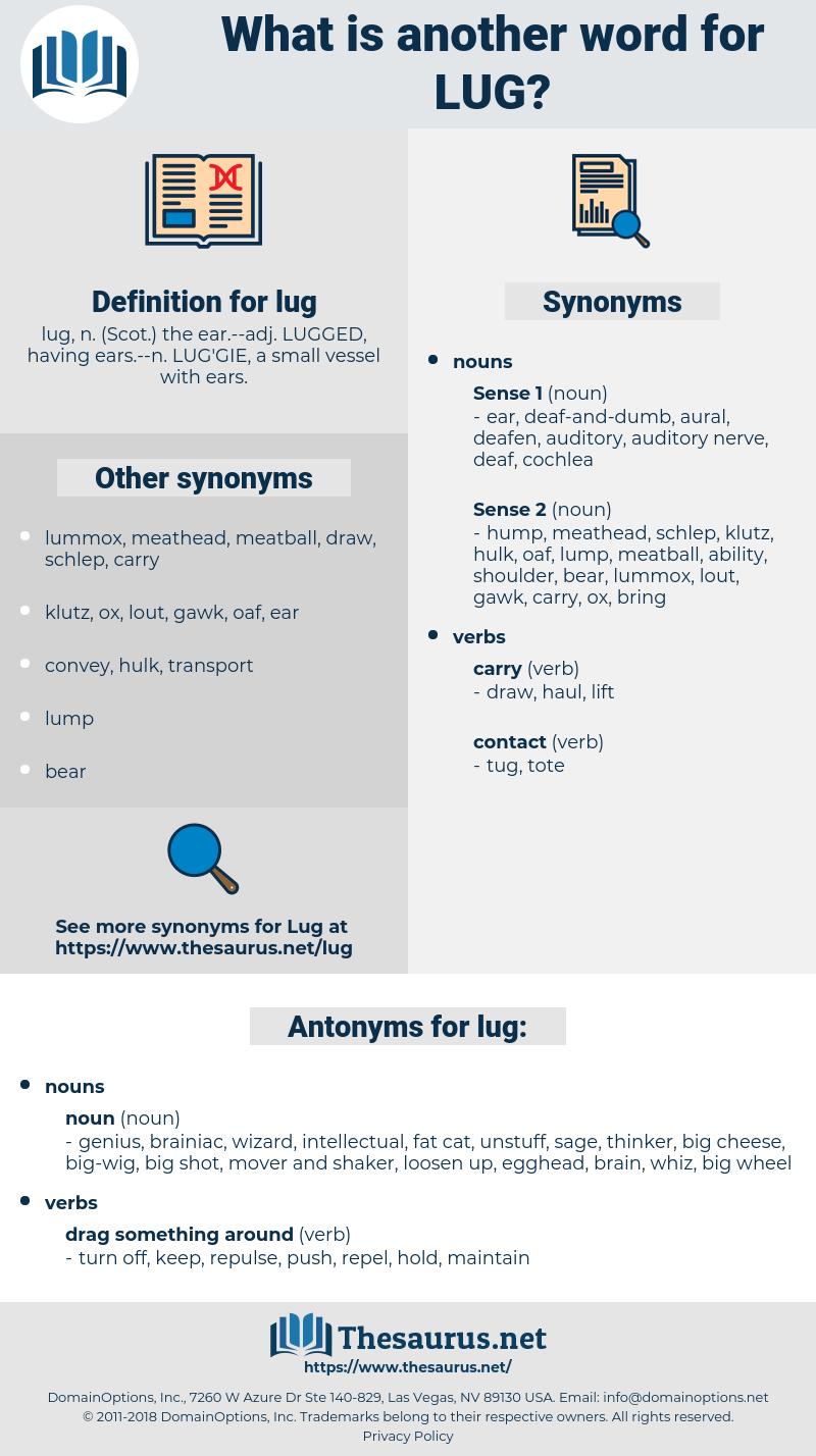 lug, synonym lug, another word for lug, words like lug, thesaurus lug