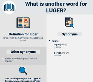 luger, synonym luger, another word for luger, words like luger, thesaurus luger