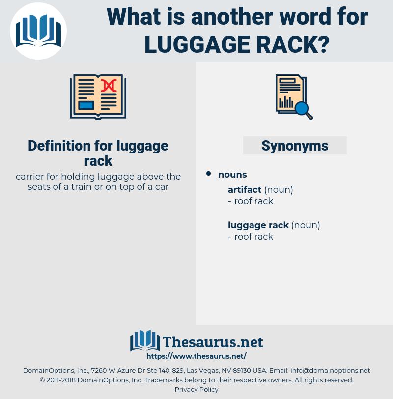 luggage rack, synonym luggage rack, another word for luggage rack, words like luggage rack, thesaurus luggage rack