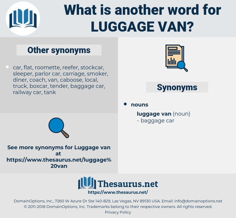 luggage van, synonym luggage van, another word for luggage van, words like luggage van, thesaurus luggage van