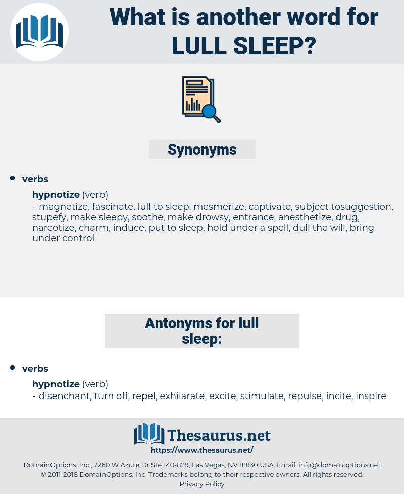 lull sleep, synonym lull sleep, another word for lull sleep, words like lull sleep, thesaurus lull sleep