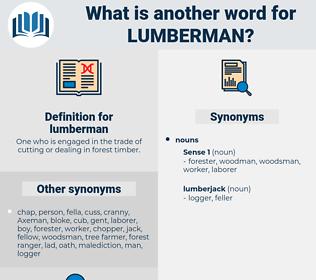lumberman, synonym lumberman, another word for lumberman, words like lumberman, thesaurus lumberman