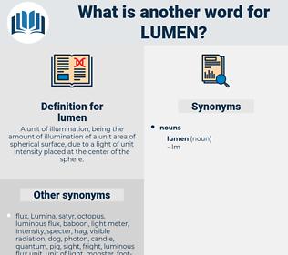 lumen, synonym lumen, another word for lumen, words like lumen, thesaurus lumen